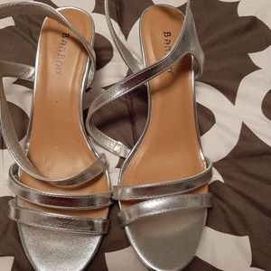 Bamboo silver heeled Sandals